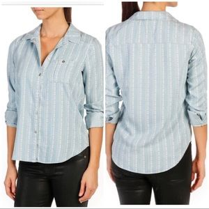 Paige Trista Chambray Denim Tencel Vineland Stripe